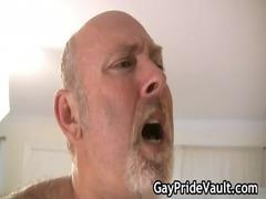 desperate gay bear gang-banging and licking gay