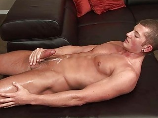 awesome gay man jerks off his plump schlong