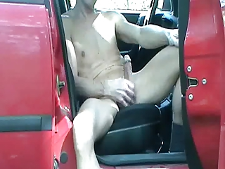 gay henndrik outside car solo exposed carnival