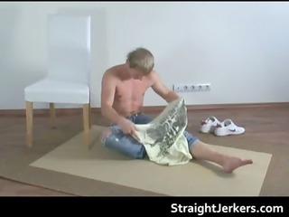 hot blonde hetero jackson jerking gay porn