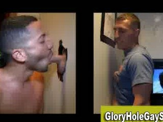 straight boy sucked at gay gloryhole