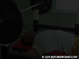 gay muscle bodybuilder gym bound showed
