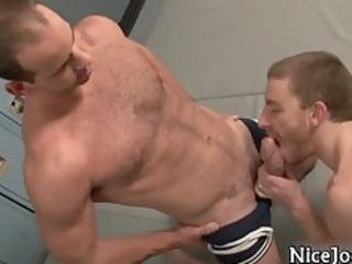 steamy jocks gang bang and suck gay video part1