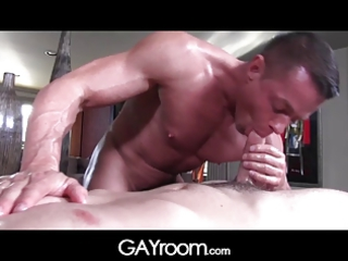 gayroom mature masseur polishes and probes huge