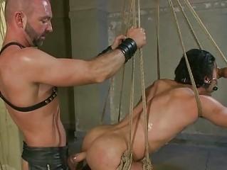 naughty gay slave tasting his misters galoshes