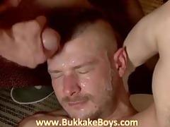gay bukkake copulate