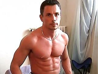 handsome gay hunk demonstrates hiss tig