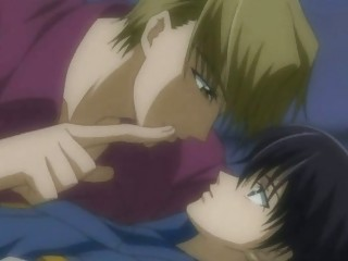 gay anime lovers secretly kiss and porn pleasure
