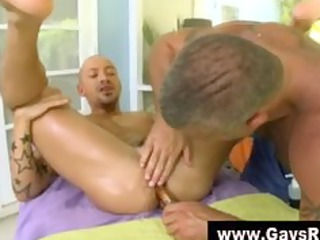 gay sex toy ass tease and massage