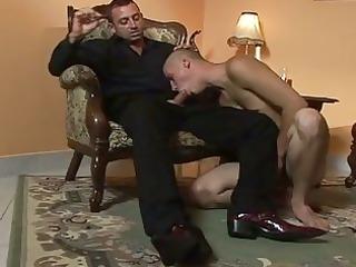 bald gay licking libido of smoking male